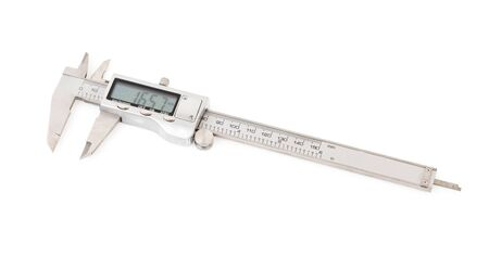 Digital calipers isolated on white background.