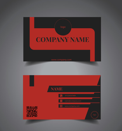 Creative Dark-Black and Elegant Red business card template