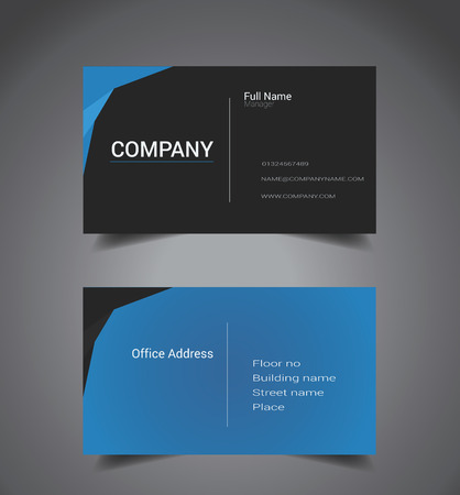 Opulent Blue and Black Color Business Card