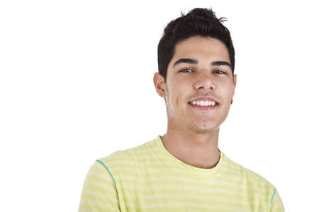 Handsome young man with happy face. Isolated on white background, studio shot. Stock Photo - 14390057