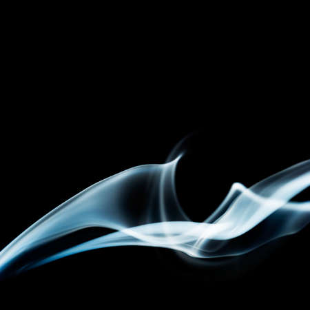 Abstract smoke background on black  photo