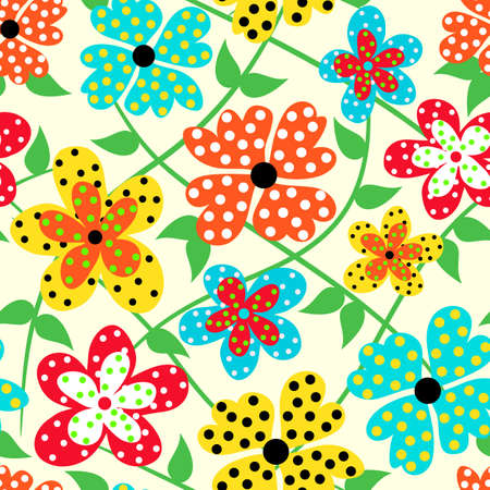 floral seamless: Bright floral seamless background