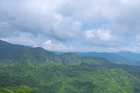 green mountains and blue sky