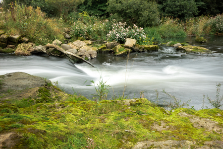 Long exposure of waterfall at river Carron in Scotland