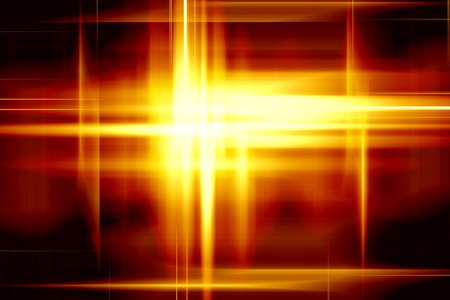 shinning light: Yellow shiny lights abstract background for illustration