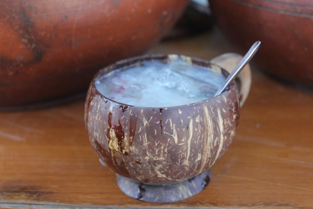 An Indonesian traditional drink is know as dawet, types of beverages are usually served in a coconut milk beverage and add brown sugar