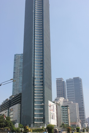 Jakarta, Indonesia, 27 March 2012 - Office buildings in downtown central business Jakarta. Stock Photo - 12848834