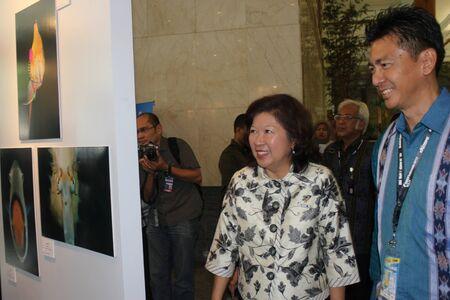 Jakarta, Indonesia, March 29, 2012 - Minister of Tourism and Creative Economy, Mari Elka Pangestu, at Deep Indonesia 2012. Stock Photo - 12904068