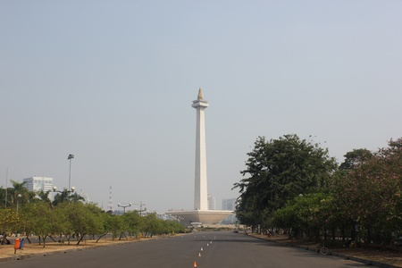 Jakarta, Indonesia, 5 September 2012, National Monument in central Jakarta Indonesia  Editorial