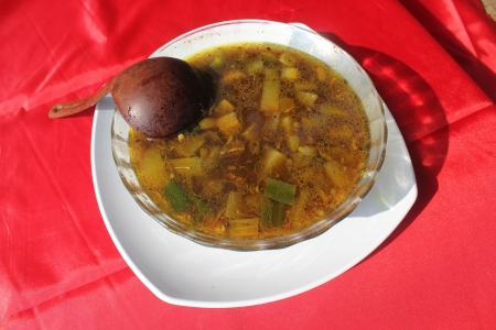Indonesian traditional food called as rawon