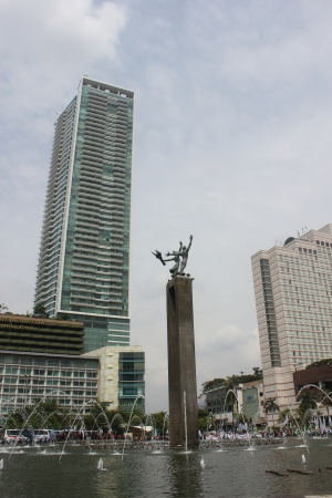 hotel indonesia: Jakarta, Indonesia, 22 November 2012, office buildings in business center of Jakarta.
