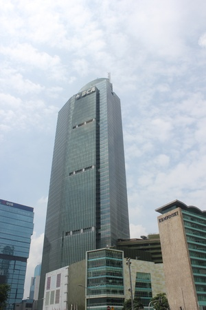 Jakarta, Indonesia, 22 November 2012, office buildings in business center of Jakarta.