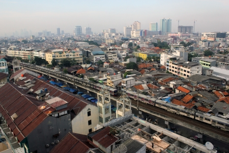 A view of residential and office buildings in Jakarta, Indonesia. Editorial