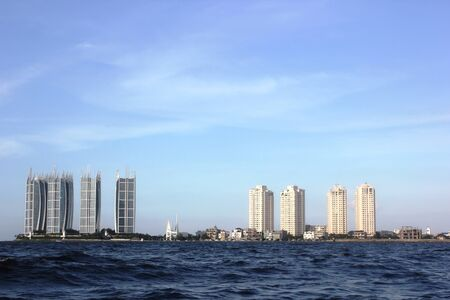 A view of the tall buildings in the seaside city of Jakarta on June 29, 2013.