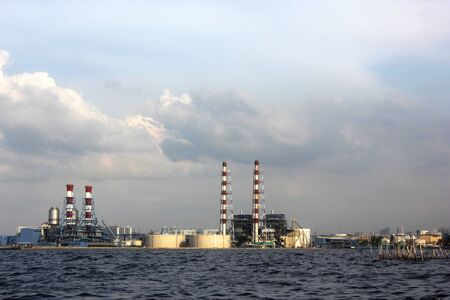 A view of the refineries in the seaside city of Jakarta on June 29, 2013.