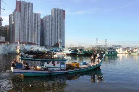 Fishing boats on Muara Angke Port, North Jakarta, Indonesia, on Friday 28th, 2013.
