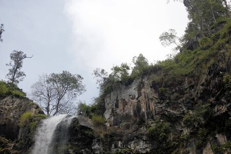 A waterfall in Malang, East Java, Indonesia, named Coban Rondo, with a height of 83 meters.