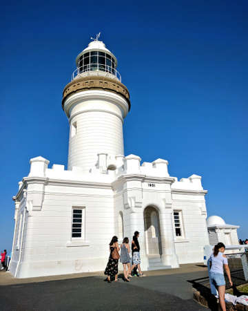 byron: Taken on 17 April 2017, Visitors at Cape Byron Lighthouse Byron Bay Lighthouse Editorial