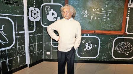 Albert Einstein wax figure Editorial