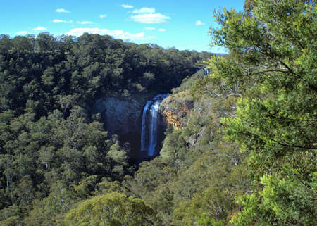 Guy Fawkes River Ebor Falls in New South Wales Australia Editorial