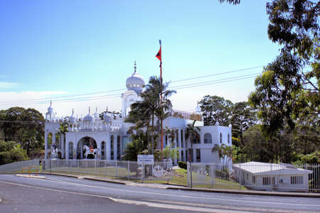 Dated 9 Jan 2018 Sikh Gurudwara or Sikh Temple in Woolgoolga Australia. Day time image of Indian Sikh temple in Australia.