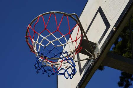 Basketball hoop on backboard