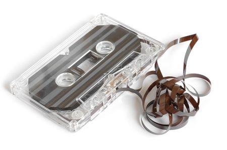 Isolated compact cassette Stock Photo