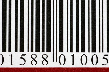 Barcode macro photo