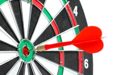 Target close-up, focus on bulls-eye