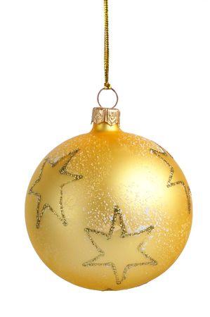 Isolated Christmas tree decoration