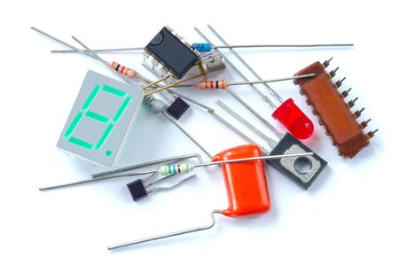 components: Isolated electronic parts