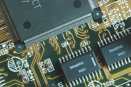 printed circuit board: Carte �lectronique avec des morceaux