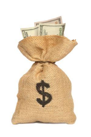 Isolated money bag Stock Photo