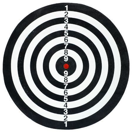Isolated target Stock Photo