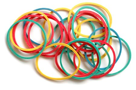 Isolated rubber bands