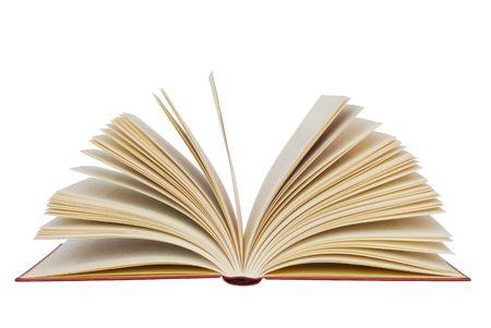 libros abiertos: Aislado libro abierto  Foto de archivo