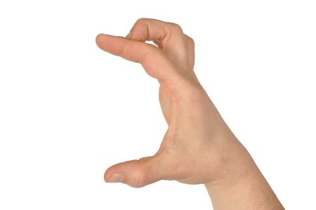 widely: Gesture series - hand with fingers widely open Stock Photo