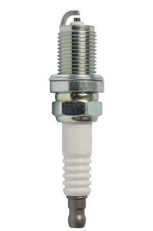 Macro of spark plug isolated on white background photo