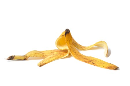 Banana skin isolated on white background Stock Photo - 7885417