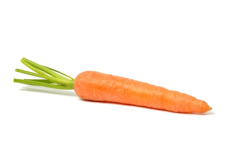 Fresh red carrot on white background Stock Photo - 10367341