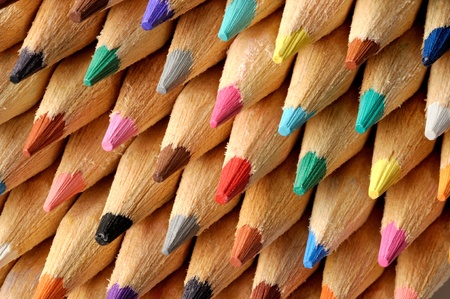 Colored pencils macro, can be used as a background photo