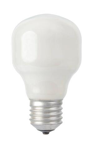 電球は、白い背景で隔離のマクロ