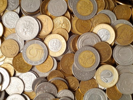 Polish coins, can be used as a background Stock Photo - 14410684