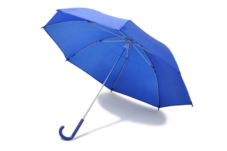 Open blue umbrella isolated on white background Stock Photo - 14410670