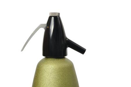 Green soda syphon isolated on white background Stock Photo - 15527959