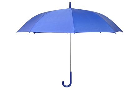 Open blue umbrella isolated on white background Stock Photo - 15527980