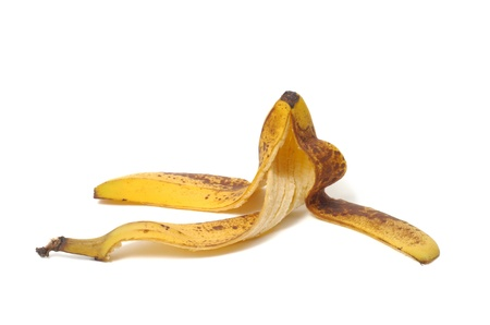 Banana peel isolated on white background Stock Photo - 17191015