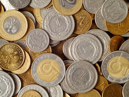 Polish coins, can be used as a background Stock Photo - 17378520