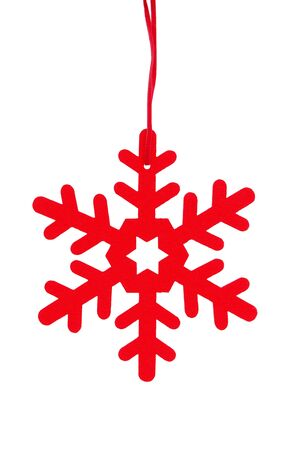 Red Christmas Decoration hanging on white background Stock Photo - 17378508
