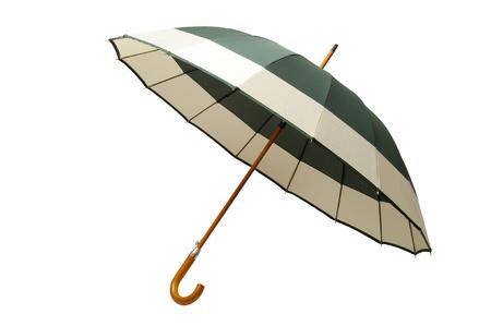 Open umbrella isolated on white background Stock Photo - 17378441